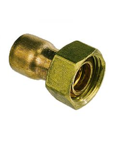 "22mm x 3/4"" Straight Tap Connector Endfeed"