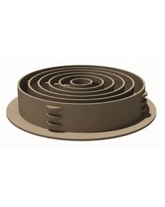 Manthorpe Single Round Soffit Vent - 70mm Brown G700