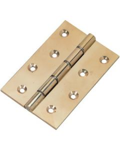"4"" Heavy Pol Brass D S W Hinges"