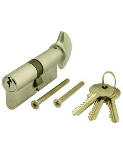 ERA  6 pin Brass Euro key & Turn Cylinders 35/35