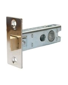 Bolt Through 76mm Silver Mortice Latch