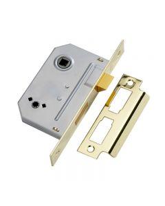 """2 1/2"""" Bathroom Lock Polished Brass"""