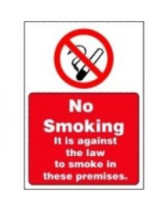 Self Adh No Smoking Against Law Sign