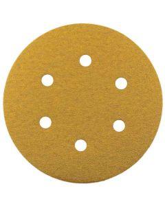 150mm x 40G Hook & Loop Disc 6 Holes