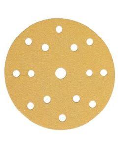 150mm 15H 180 grit Sanding Disc Gold