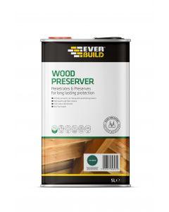 Everbuild 5 Litre Green Wood Preservative