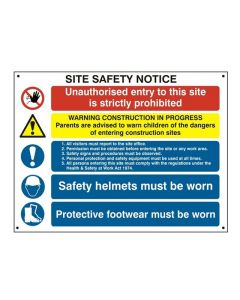 Site Safety Notice Extra Large