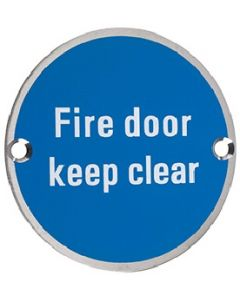 Fire Door Keep Clear SS11SS