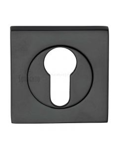 Axis Square Euro Escutcheon Black