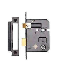 """3"""" Bathroom Lock Black"""