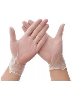 Clear Powder Free Latex Gloves L