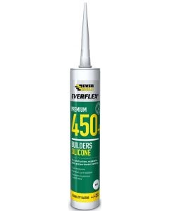 Everbuild 450 Neutral Cure Clear Silicone Sealant