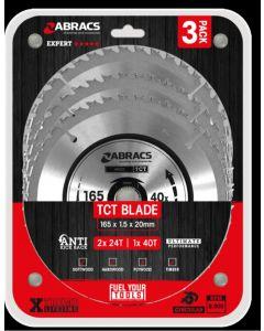 3 Piece 165mm TCT Blade Pack