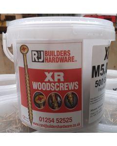R&J XR Gold Wood Screws 5 x 100mm (320 Pack)