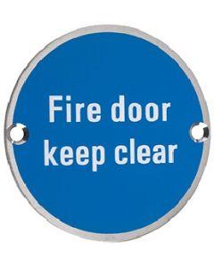 Fire Door Keep Clear SS11SS