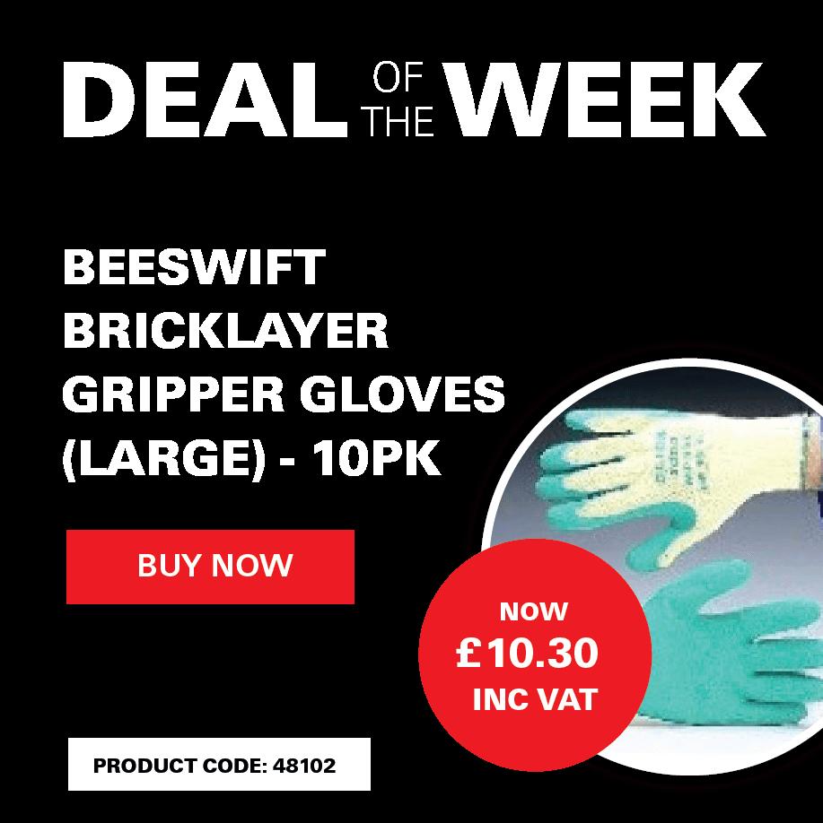 Beeswift Bricklayer Gripper Gloves